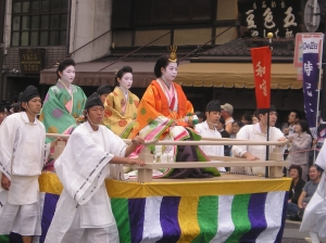 A passing float at the Jidai Matsuri (Festival of the Ages)