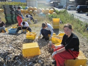 InsideJapan's Ruth Hubbard Volunteering at It's Not Just Mud