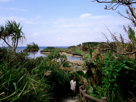 The path to Hoshizuna Beach