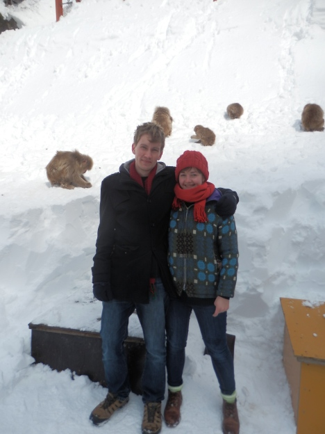 Me and Adam at Jigokudani snow monkey park