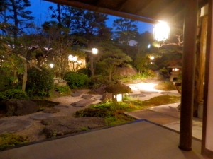 The ryokan garden from our dinner table. Beautiful!