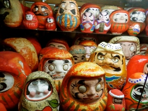 Daruma dolls in the Rural Toy Museum
