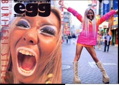 Buriteri, a famous Ganguro girl frequently featured in egg magazine in the nineties