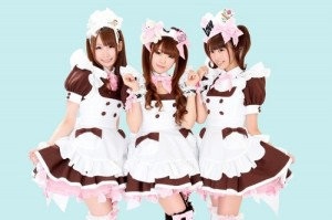 "Maids from the popular @home maid cafe - tagline: ""Welcome home, master!"""