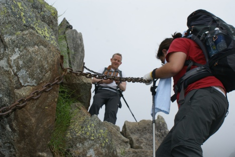 …with the help of chains and a few small ladders, but no technical climbing ability is necessary.