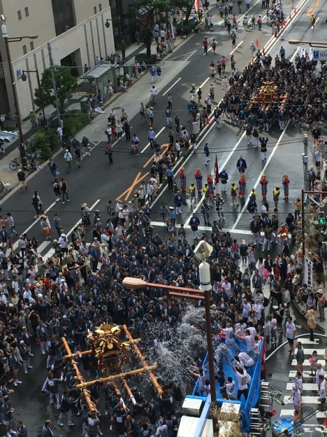 Fukagawa Matsuri from above