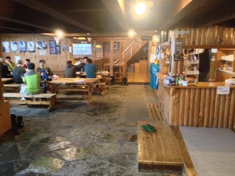 Hotaka Hut reception and dining area...