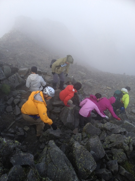 Considerable scrambling required near the Okuhotaka Summit