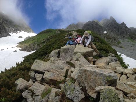 Steady descending on Zaitengrad's challenging boulders