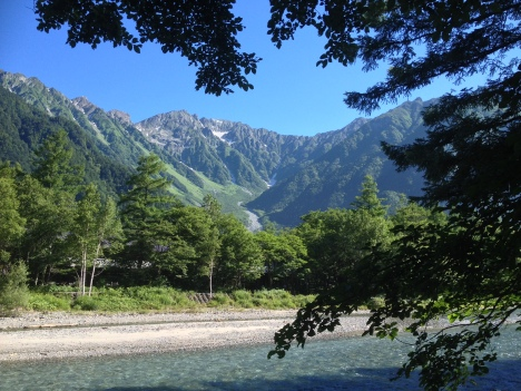 The first afternoon of hiking along the pristine Azusa River is flat and shaded. You can even buy soft ice cream at the rest huts en-route to Yokoo Hut!