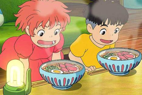 Still from Ponyo on the Cliff by the Sea, 2008