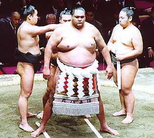 Akebono Taro, born Chad Haaheo Rowan, became the first ever foreign-born sumo grand champion in 1993.