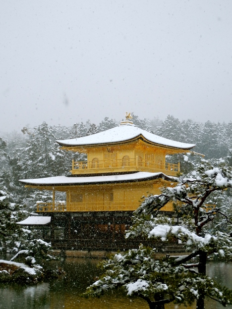 Kinkaku-ji's Golden Pavilion is at its best in the snow, as we found in Kyoto.