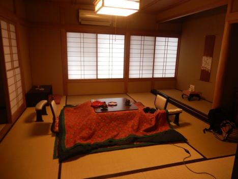 Kotatsu at Jinpyokaku ryokan inn, Yudanaka
