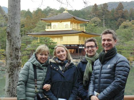 Humber family in Kyoto