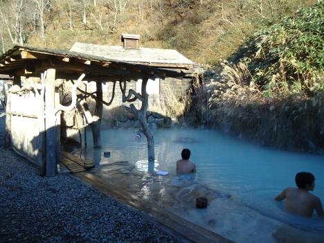 Nyuto Onsen's famous outdoor bath