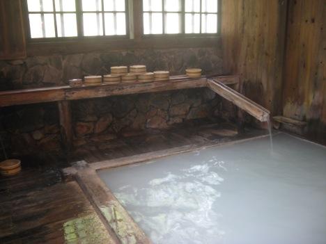 Indoor bath at Nyuto Onsen