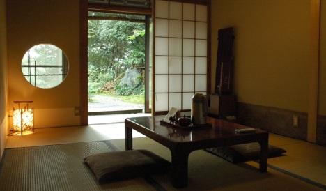 A tatami room at the Yoshimizu Ryokan