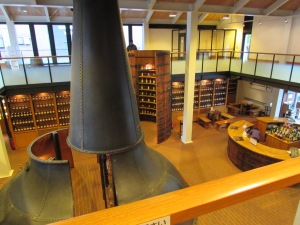 The Whisky Library contains 7,000 bottles of single malt whisky all created at the distillery.