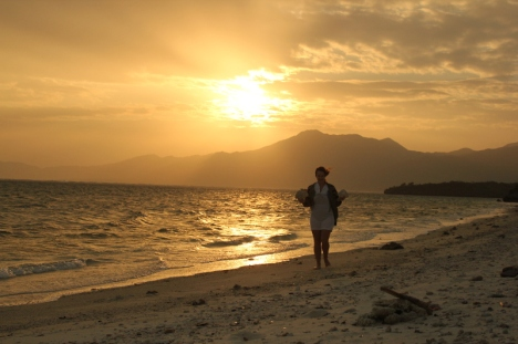 Yours truly enjoying the sunrise on Ishigaki Island (part of Okinawa)