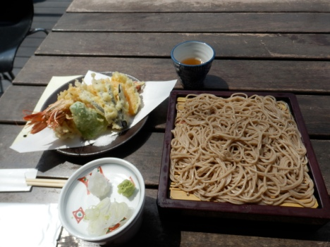 A delicious lunch of zarusoba that I ate in Karuizawa