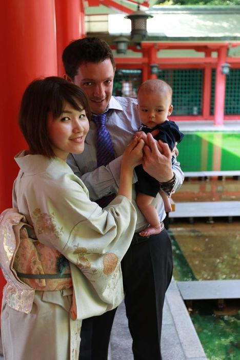 Mark & Rie, both members of the InsideJapan team, in Japan with baby Jun