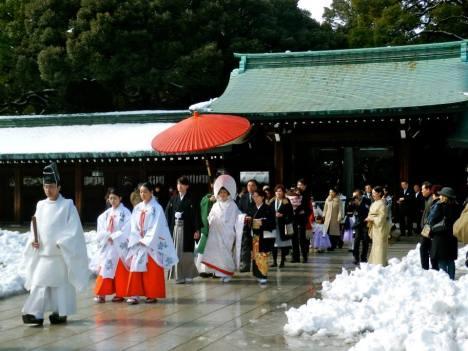 Shinto wedding at Meiji Shrine