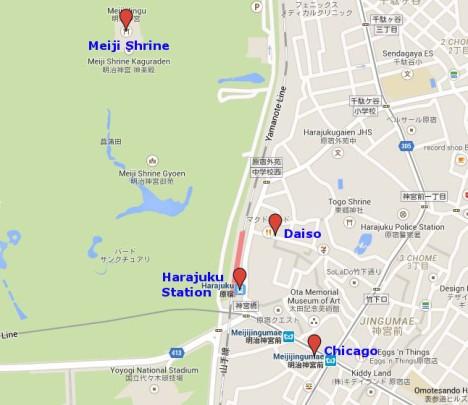 Map of Harajuku