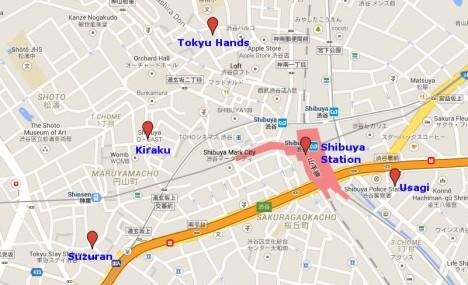 Map of Shibuya